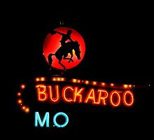 Buckaroo Motel Sign, Tucumcari, New Mexico by Catherine Sherman