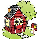 Red House Cartoon by Graphxpro