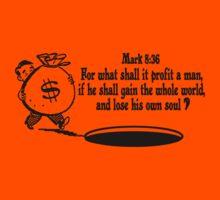 Mark 8:36 don't lose your soul Kids Clothes