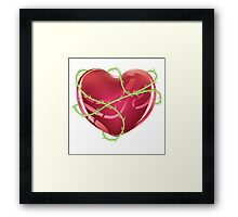 Red Heart with Thorns Framed Print