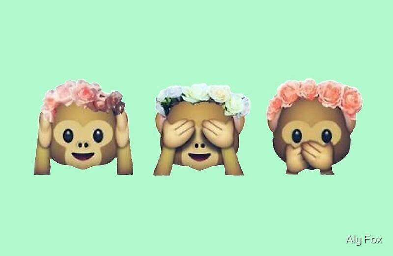 Monkey emoji with galaxy