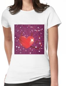 Shiny devil heart Womens Fitted T-Shirt