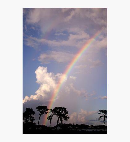 Rainbow & Rain Photographic Print