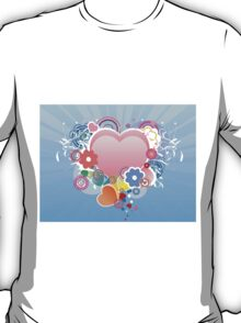 Valentines day card with heart and flourish T-Shirt