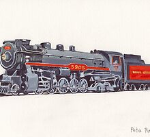 Selkirk - Canadian Pacific Railway Locomotive 5905 by Peta-Reilly