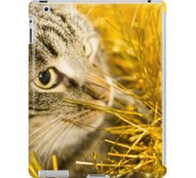 Tabby Cat and Yellow Tinsel 7 iPad Case/Skin