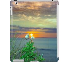 yellow sunset over loop head with thistles iPad Case/Skin
