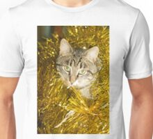 Tabby Cat and Yellow Tinsel 9 Unisex T-Shirt