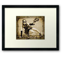 The Steampunker: Raven The Renegade Framed Print