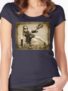 The Steampunker: Raven The Renegade Women's Fitted Scoop T-Shirt