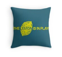 The Lemon is in Play Throw Pillow