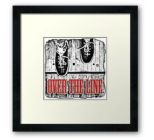 Over The Line Framed Print