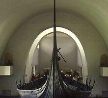 Hull of Viking Longboat. by Peter Stephenson