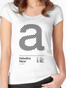 a .... Helvetica Neue (b) Women's Fitted Scoop T-Shirt