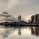 Bridge over Salford Quays, Manchester, UK by NeilAlderney