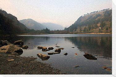 Early morning in Glendalough valley by John Quinn