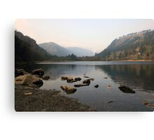 Early morning in Glendalough valley Canvas Print