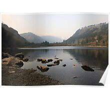 Early morning in Glendalough valley Poster