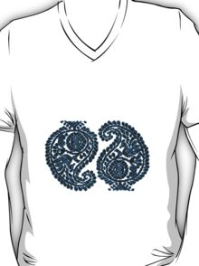 Paisley Blue Bird Sticker & Tshirt T-Shirt