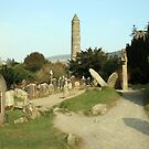 Glendalough round tower by John Quinn