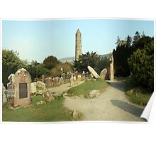 Glendalough round tower Poster