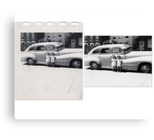 THE TWINS Before & After Canvas Print