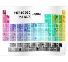 The Periodic Table Of Pokemon! Poster