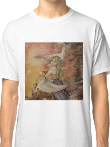 Airbrush Portrait - Yuna from Final Fantasy X Classic T-Shirt
