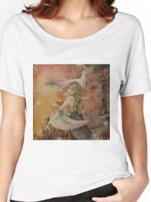 Airbrush Portrait - Yuna from Final Fantasy X Women's Relaxed Fit T-Shirt