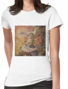 Airbrush Portrait - Yuna from Final Fantasy X Womens Fitted T-Shirt