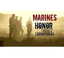 Marine Corps Values Photographic Print