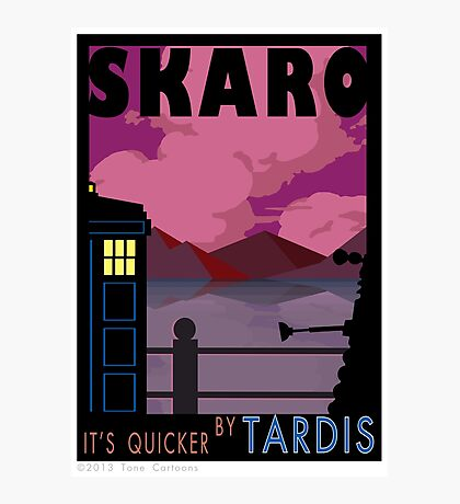 SKARO QUICKER BY TARDIS Photographic Print
