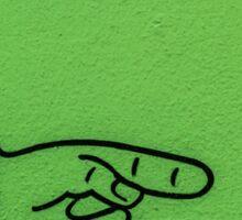 Direction Green Sticker