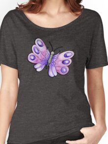 Purple Watercolour Butterly Women's Relaxed Fit T-Shirt