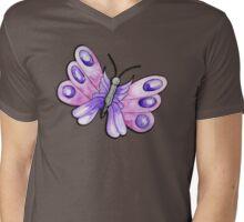 Purple Watercolour Butterly Mens V-Neck T-Shirt