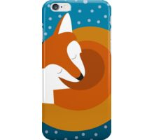 Sleeping Fox in Winter iPhone Case/Skin