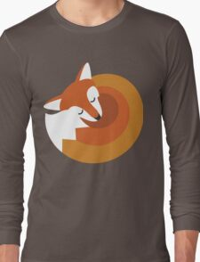 Sleeping Fox (Hounds Off) Long Sleeve T-Shirt