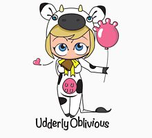 Udderly Oblivious Womens Fitted T-Shirt