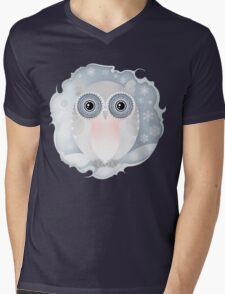 Snowly Owl Mens V-Neck T-Shirt