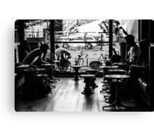 Life at a coffee shop Canvas Print