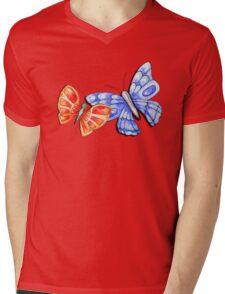 Watercolour Butterflies Mens V-Neck T-Shirt