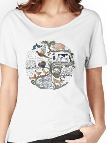 Born to Roam at Christmas Women's Relaxed Fit T-Shirt