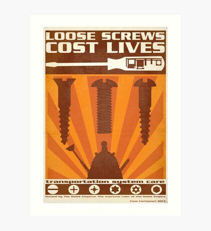 Time War Propaganda II Art Print