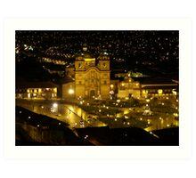 Cusco at Night - Peru Art Print