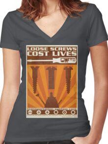 Time War Propaganda II Women's Fitted V-Neck T-Shirt