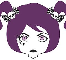 eyelashed lady by asyrum