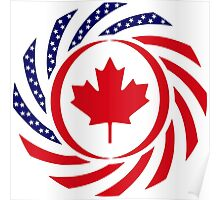 Canadian American Multinational Patriot Flag Series 1.0 Poster