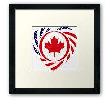 Canadian American Multinational Patriot Flag Series 2.0 Framed Print