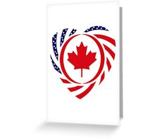 Canadian American Multinational Patriot Flag Series 2.0 Greeting Card