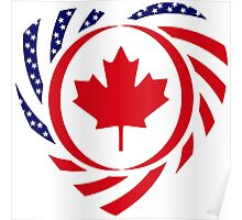 Canadian American Multinational Patriot Flag Series 2.0 Poster
